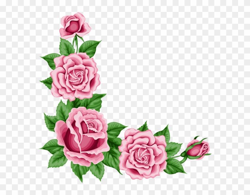 rose corner border png free transparent png clipart images download