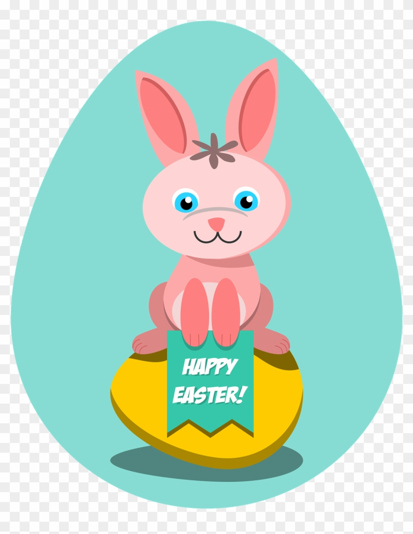 Happy Easter Clipart - Easter Coloring Books For Kids #1244230