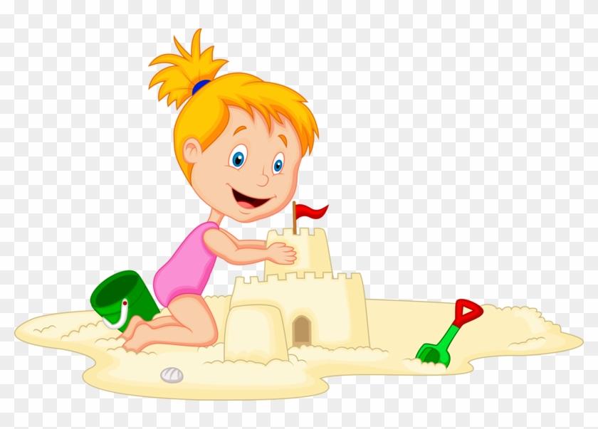 Castle Sand Art And Play Child Illustration - Enfants A La Plage Dessin #1244362