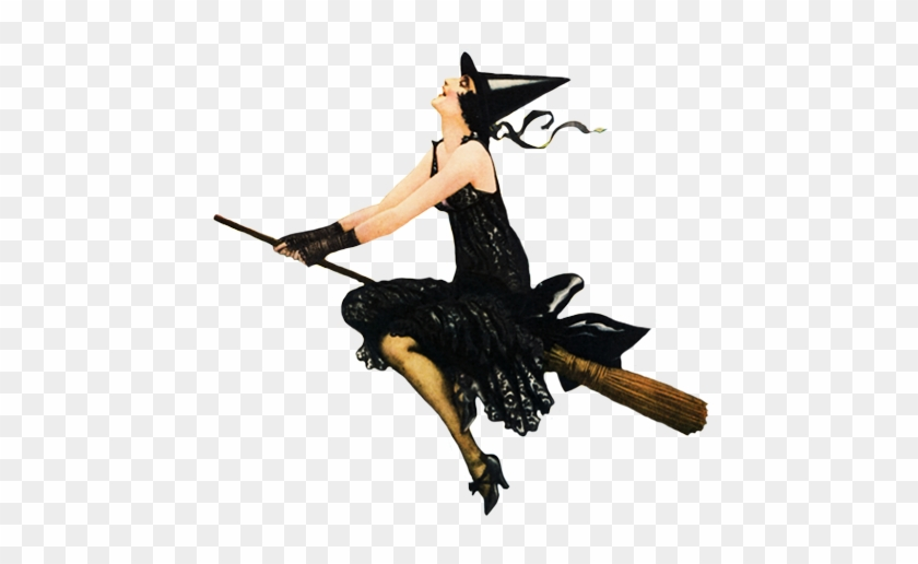 Halloween Party Witch Flying On Broom - Don't Make Me Release The Flying Monkeys Shower Cu #1244580