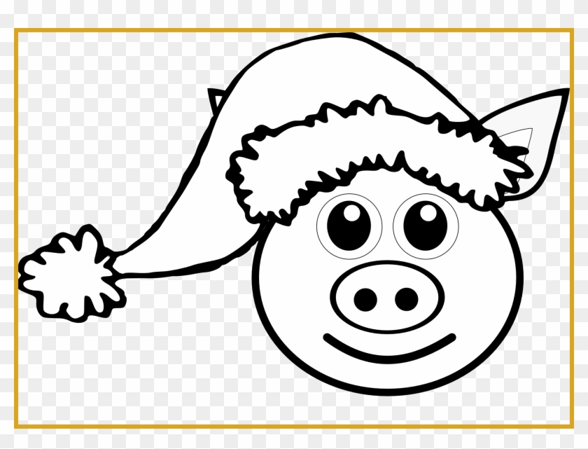 Best Piggy Nose Clip Art On For Cute Pig Head Clipart - Santa Hat Clipart #1245681
