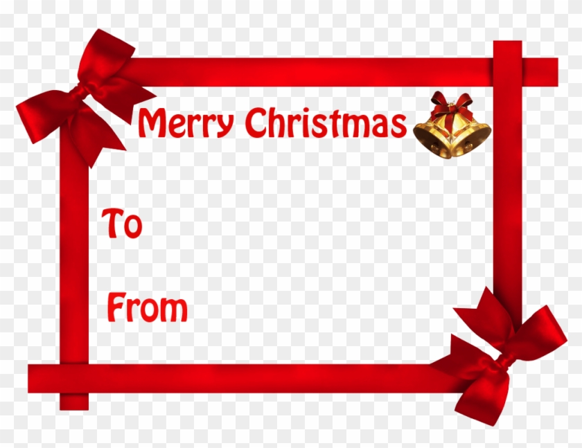 Merry Christmas Gift Labels - Free Transparent PNG Clipart Images ...