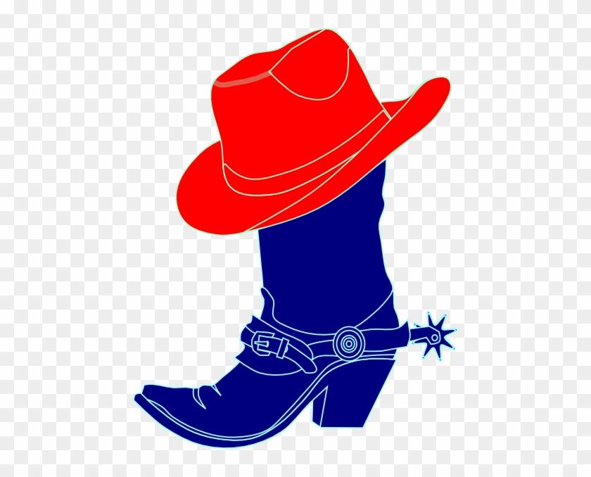 Cowboy Hat Clipart Purple Hat - Pink Cowboy Boot Clipart #1247286