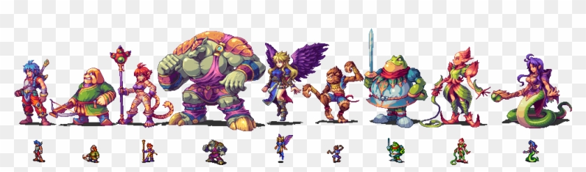 Sprites Of The Main Characters Of Breath Of Fire 2, - Game