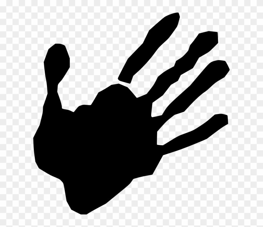 Silhouette Praying Hands Clip Art - Main De Scène Du Crime Grand Tote Bag #1248359