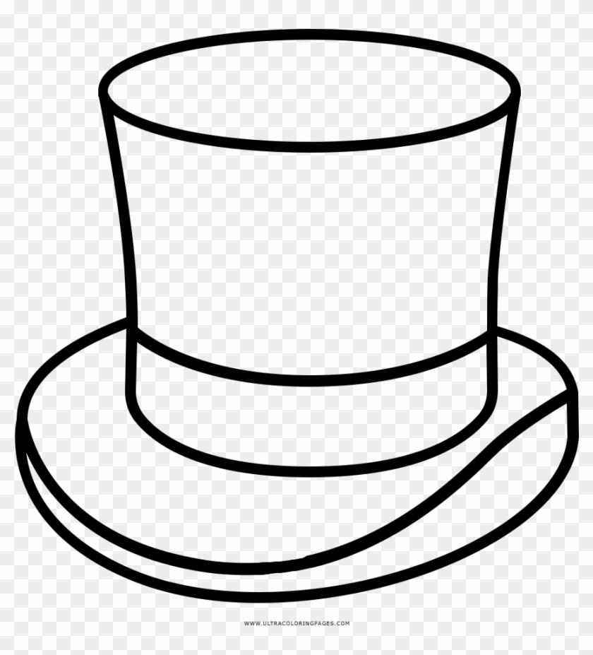 Picture Sombrero Coloring Page With Top Hat Ultra Pages - Sombrero De Mago Para Colorear #1249671