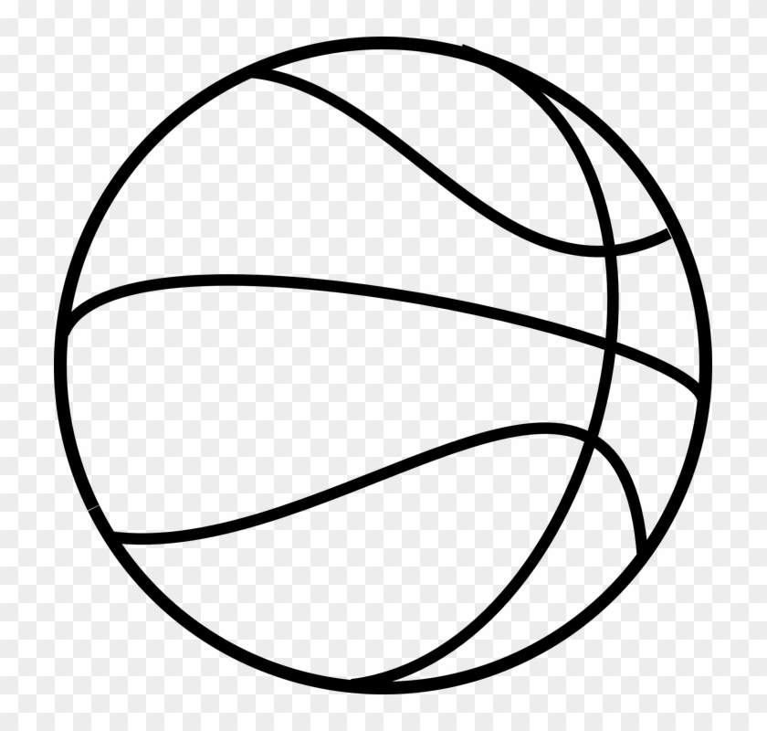 Soccer Goal Drawing 7, Buy Clip Art - Basketball Clipart Black And White #1251492