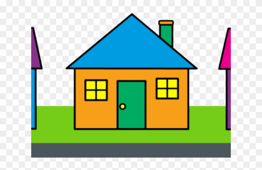 Nice House Cliparts - Neighborhood Clipart #1251755