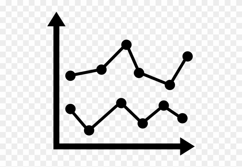 Double Line Graph Icon Clipart Bar Chart Black And White Free