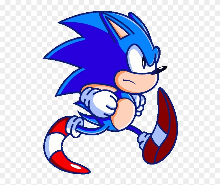 Sonic The Hedgehog Clipart Animation Funny Sonic Running Gif Free Transparent Png Clipart Images Download