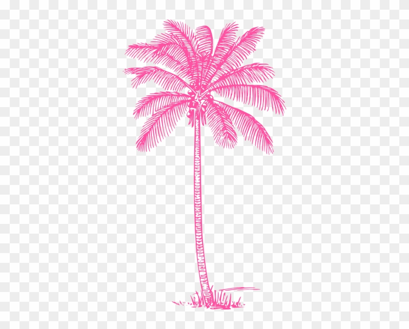 Pink Palm Tree Clip Art At Clker Com Vector Clip Art - Pink Palm Trees Png #1254935