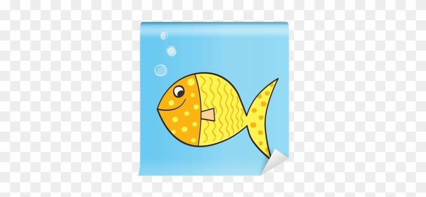 Gold Yellow Cartoon Fish - Cute Cartoon Fish #1255045