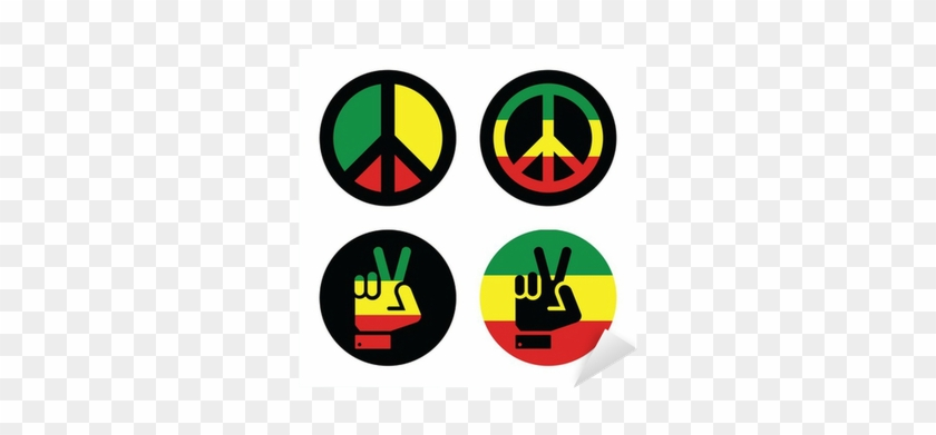 Rasta Peace, Hand Gesture Vector Icons Set Sticker - Cafepress Funky Peace Symbol Cap - Unique Baseball #1255359