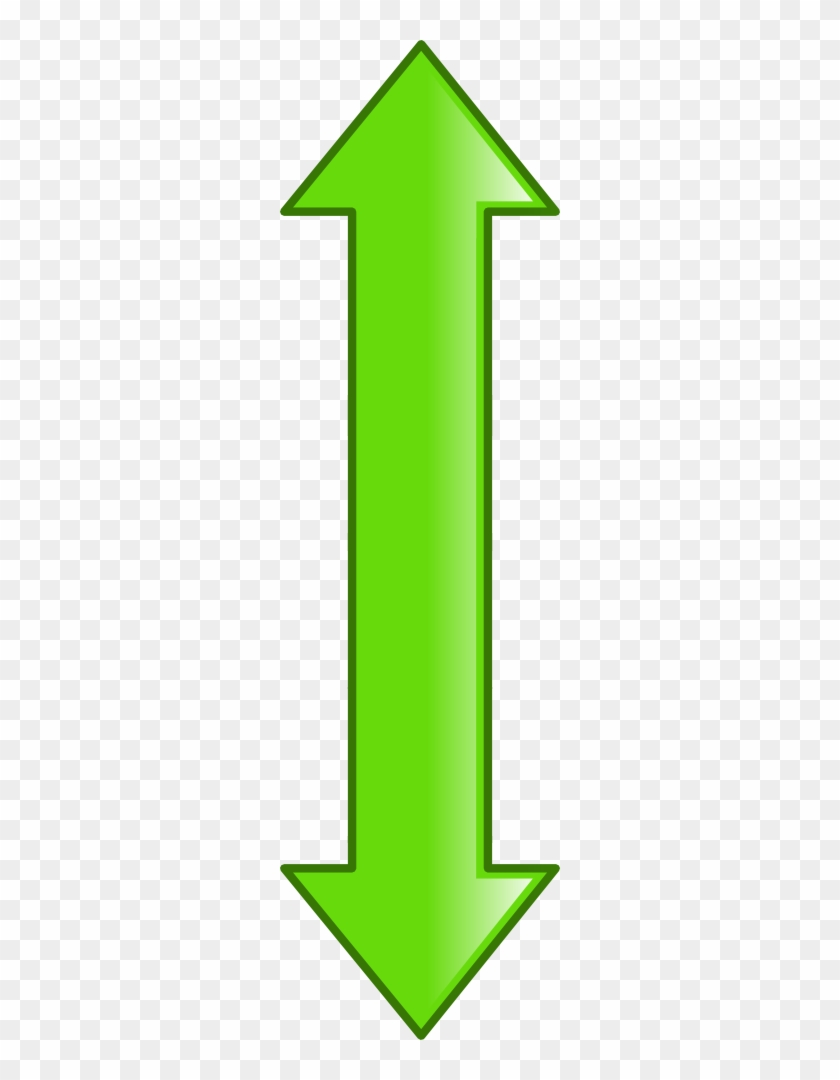 Hexadecimal, Vertical Green Double Arrow - Arrows Pointing Left And Right #1255508