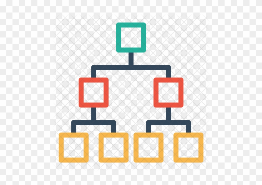 Bar, Chart, Flow, Diagram, Organization, Company, Structure - Organizational Structure Icon Transparent #1256158