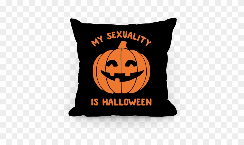 My Sexuality Is Halloween Pillow - She's Beauty She's Grace She Ll Punch You In The Face #1256895