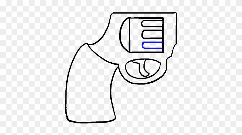 How To Draw Cartoon Revolver Gun Drawing Easy Free Transparent