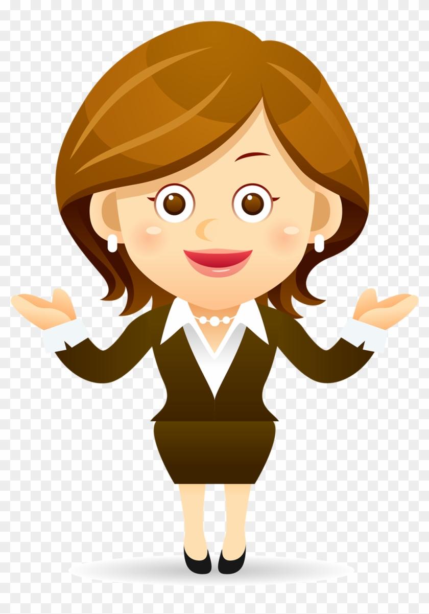 cartoon female clip art teacher animated student character free