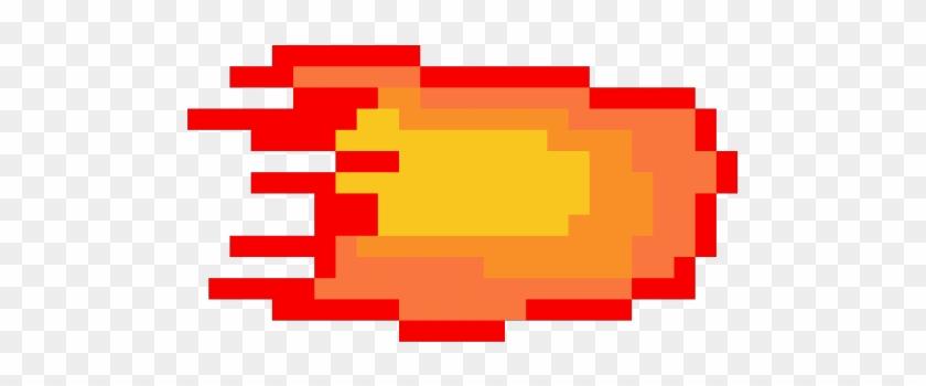 Fireball Clipart Pixel Sprite - Pixel Art - Free Transparent