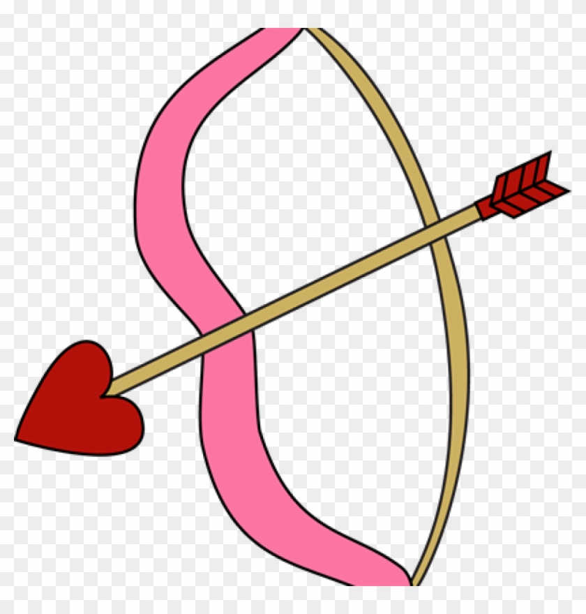 Bow And Arrow Clipart Valentines Day Bow And Arrow - Cupid Bow And Arrow #1258541