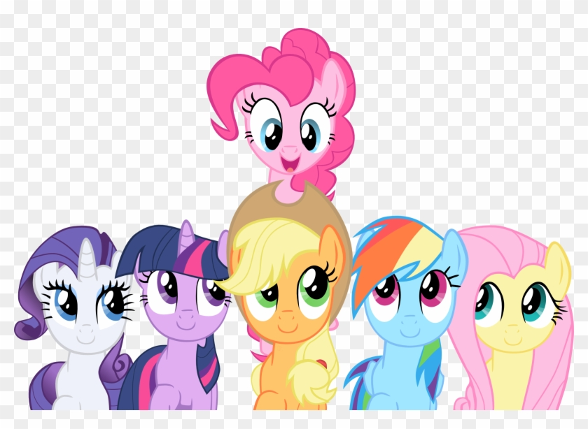 Smile Song Mane 6 Vector By Exe2001 - My Little Pony Season