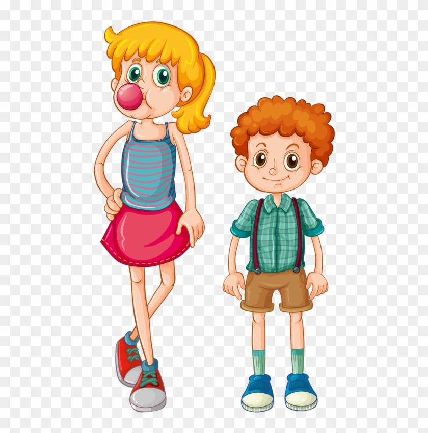 Family Clip Art Cartoon Boy With Curly Hair Free Transparent Png Clipart Images Download