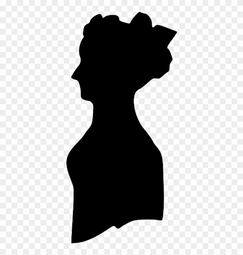 Pin Lady Silhouette Clip Art - Old Fashioned Woman Silhouette #1259599