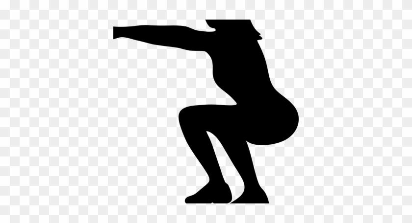 Asdassdvwadd - Squat Exercise Silhouette Png Transparent #1260298