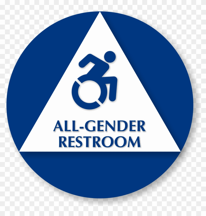 All Gender Restroom Sign With New Accessibility Symbol Restroom