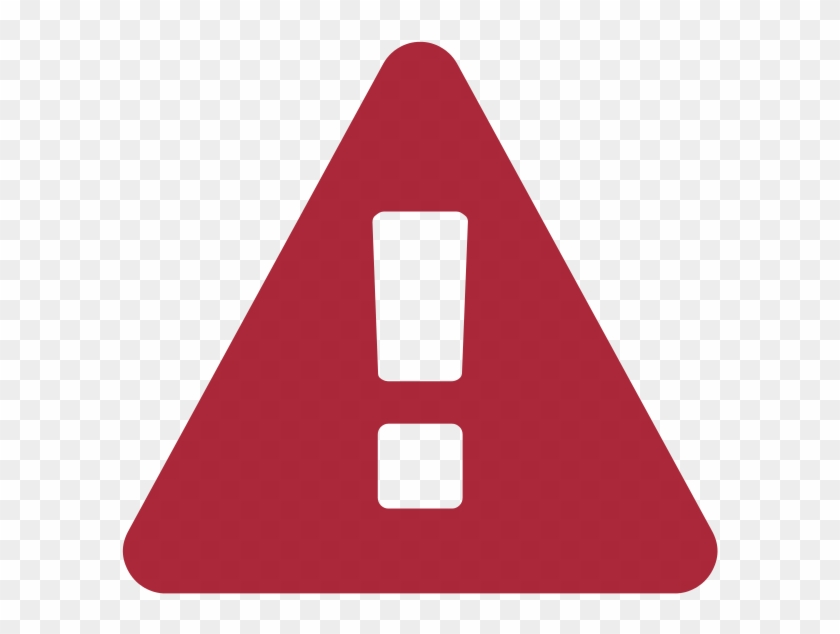 Attention Png - Warning Flat Icon Png #1260484