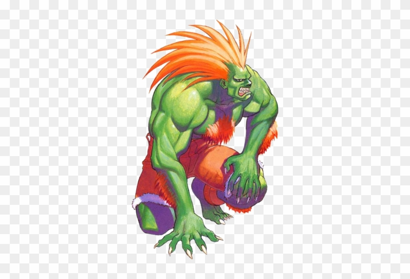 This Mask Depicts The Character Blanka From Street Baka Street