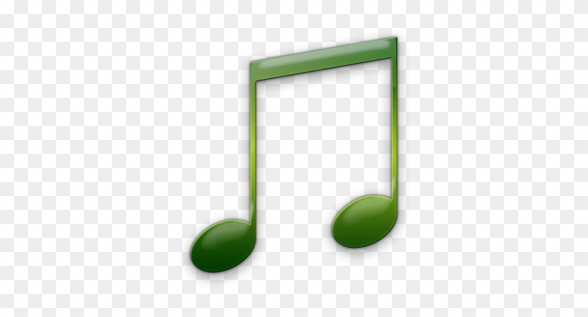 Pin Music Note Clipart Transparent Background - Music Note Icon Green #1261763