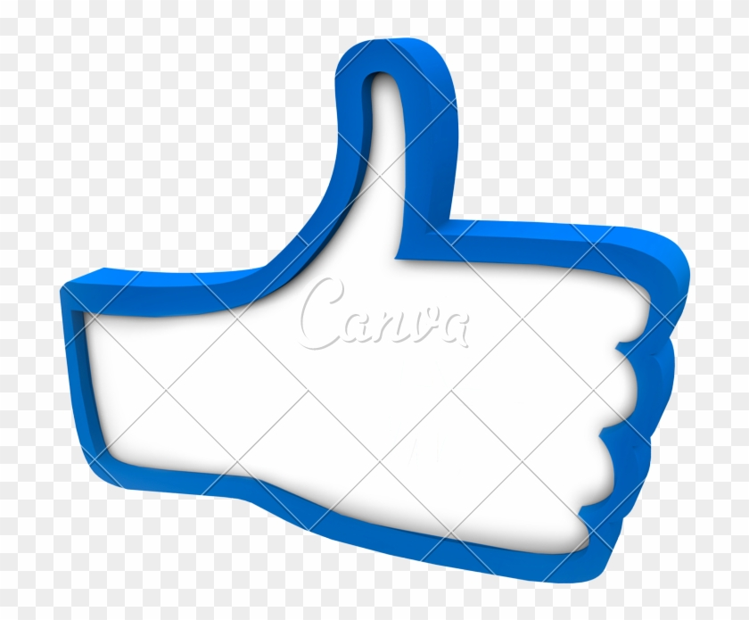 Blue Thumbs Up Icon Review Rating Feedback - Thumb Signal #1262432