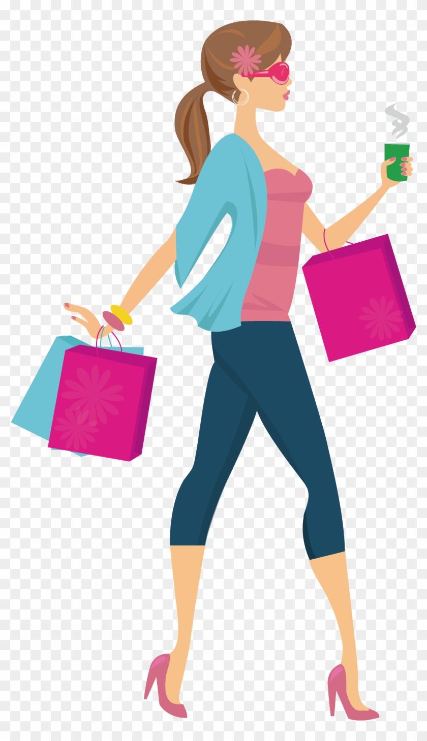 shopping girl woman clip art cartoon shopping png free rh clipartmax com clip art woman shopping clipart ladies shopping