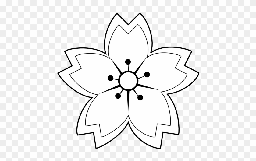 Flower Drawings, Flower Clips, Black Flowers, Mosaic - Flower Clip Art Black And White Outline #1264678