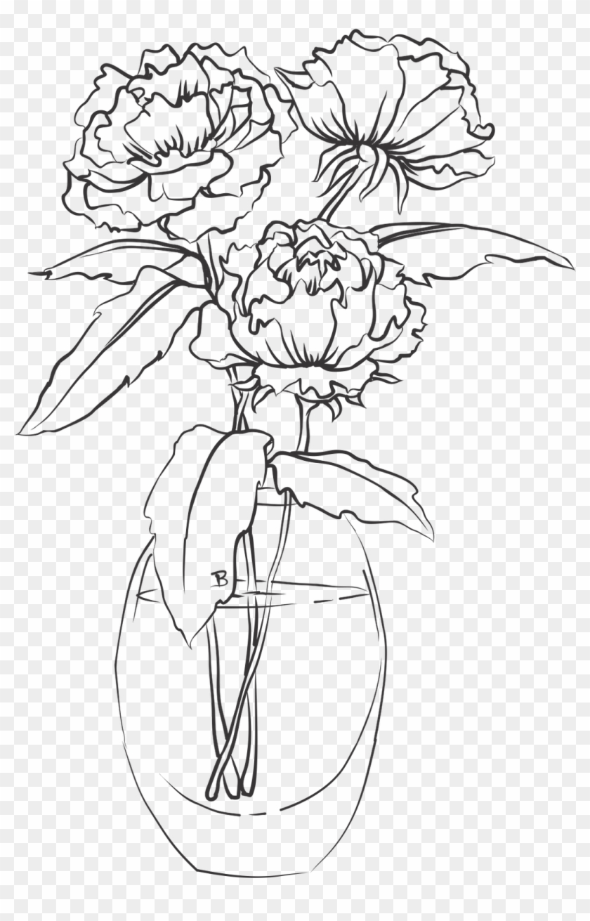 Google Image Result For Http - Vase Of Flowers Drawing