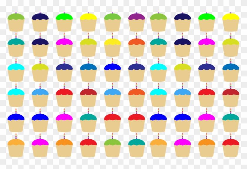 Medium Image - Bunte Kleine Kuchen Mit Kerzen Mousepads #1265441