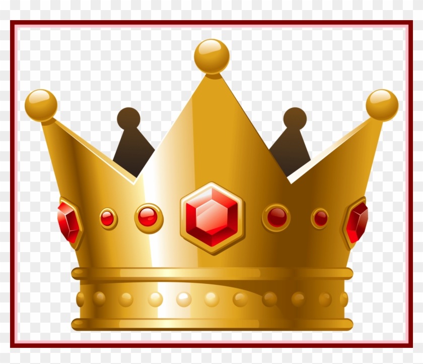 Stunning Gold Crown With Red Diamonds Png Clipart Princess - Transparent Background Crown Transparent #1265854