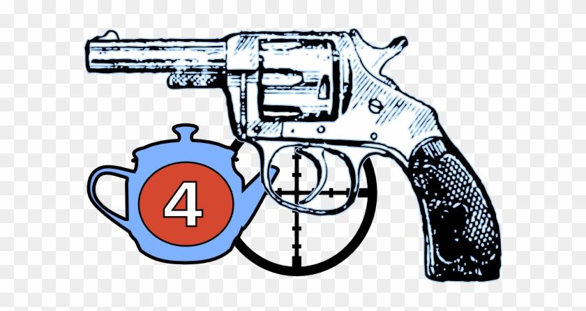 Revolver Gun Shower Curtain 1266081