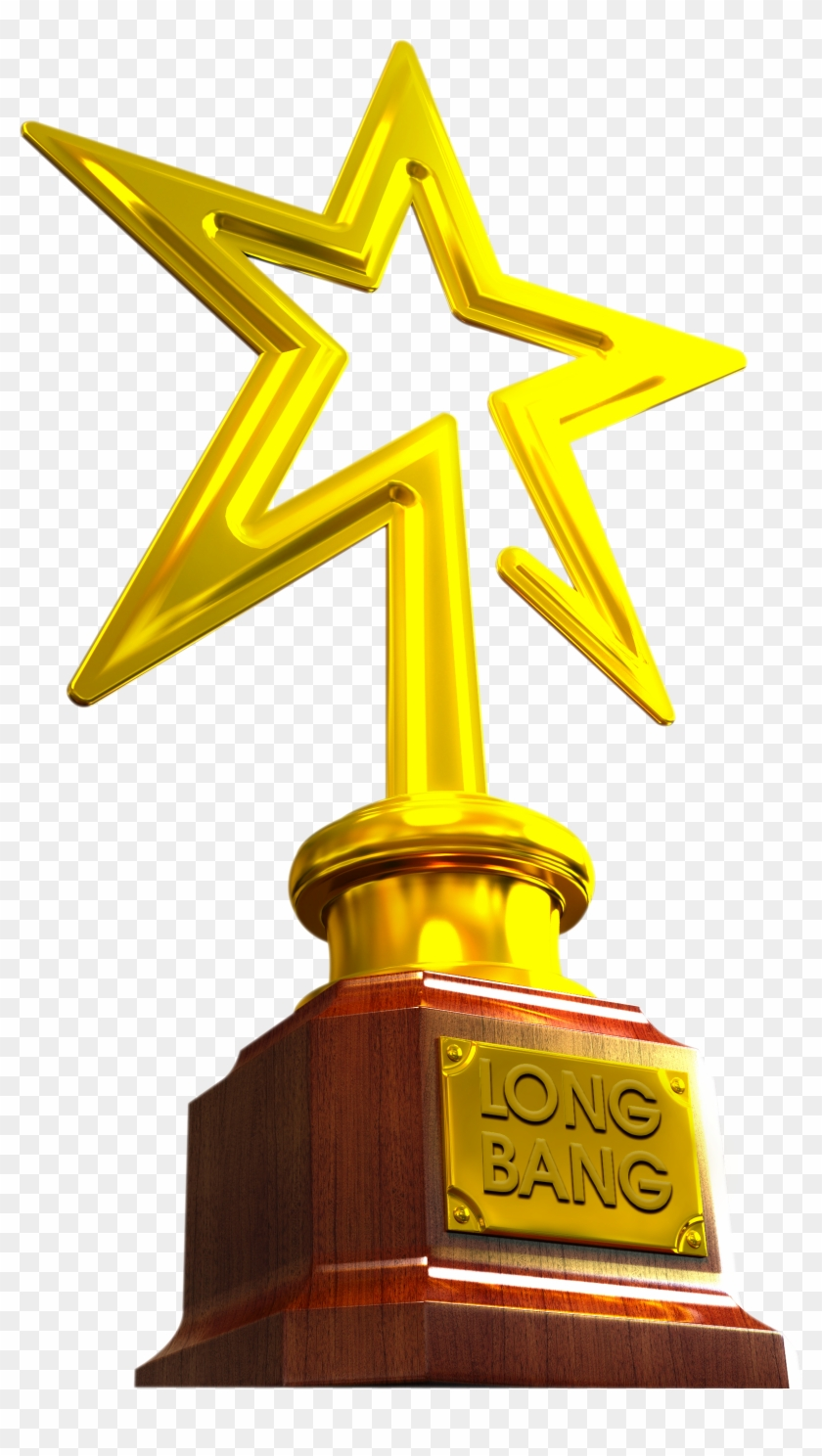 golden stars award microsoft powerpoint template trophy trophy