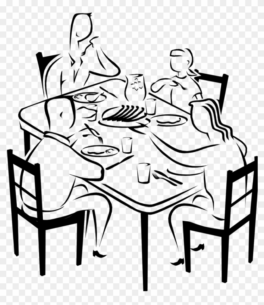family eating clip art - 840×969
