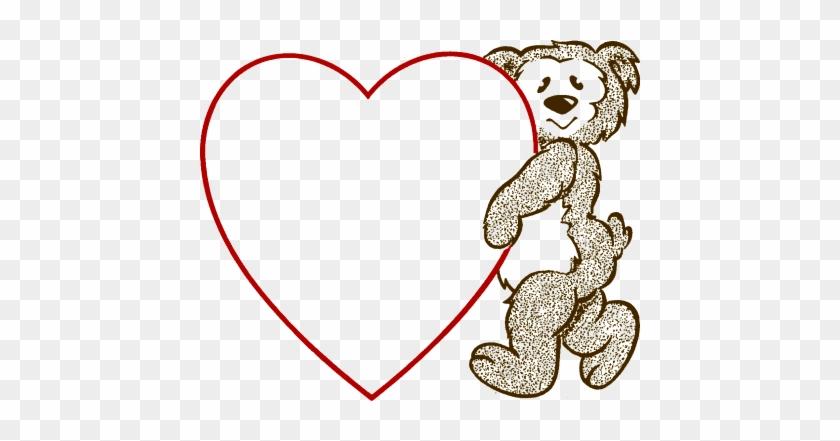 Bear Heart - Valentines Day Heart Template #200687