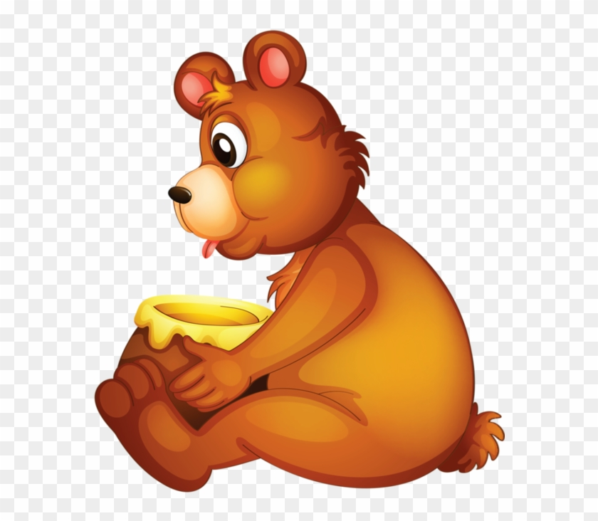 Clip Art - Honey Clipart A Bear Eating Honey #200813