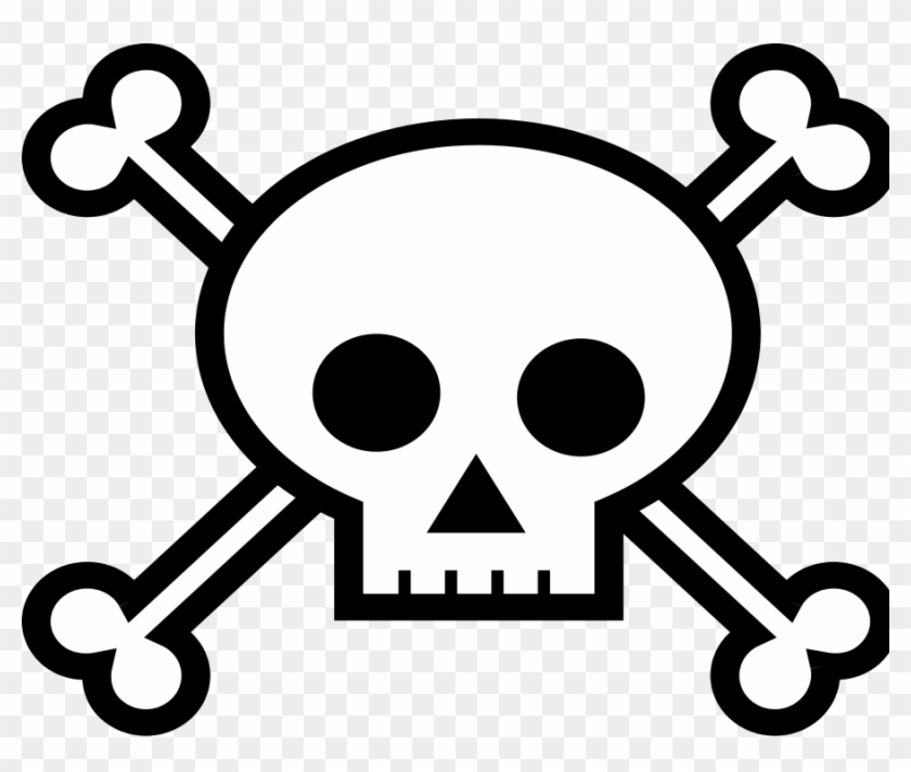 Pirate Skulls - Clipart Library - Draw A Skull And Crossbones #200862