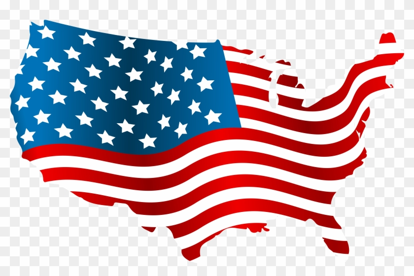 Usa Flag Map Png Clip Art Image United States Map Flag Free