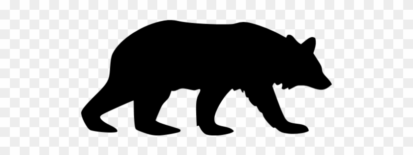Black Bear 5 Icon - Mountain Lion Silhouette Clip Art #200928