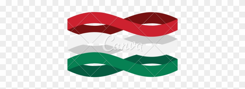 Hungary Flag Ribbon Isolated - Graphic Design #200958