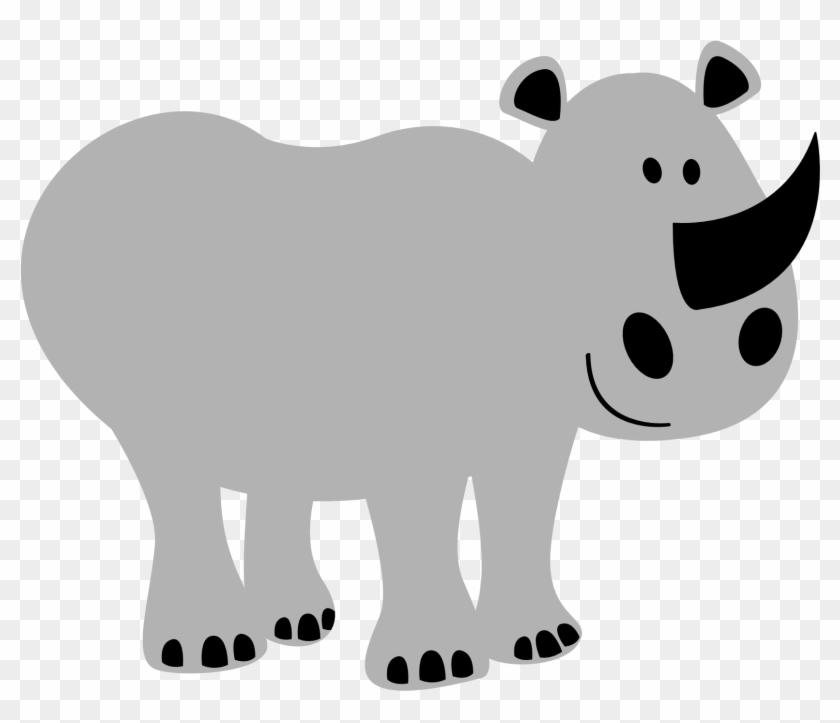 Colorful Animal Rhino Black White Line 1979px 156 Desenhos De