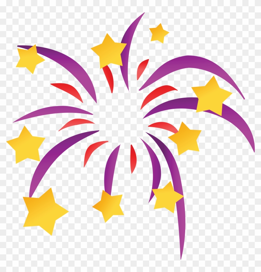 Free Clipart Of A Starry Firework - New Years Eve Icon #201018