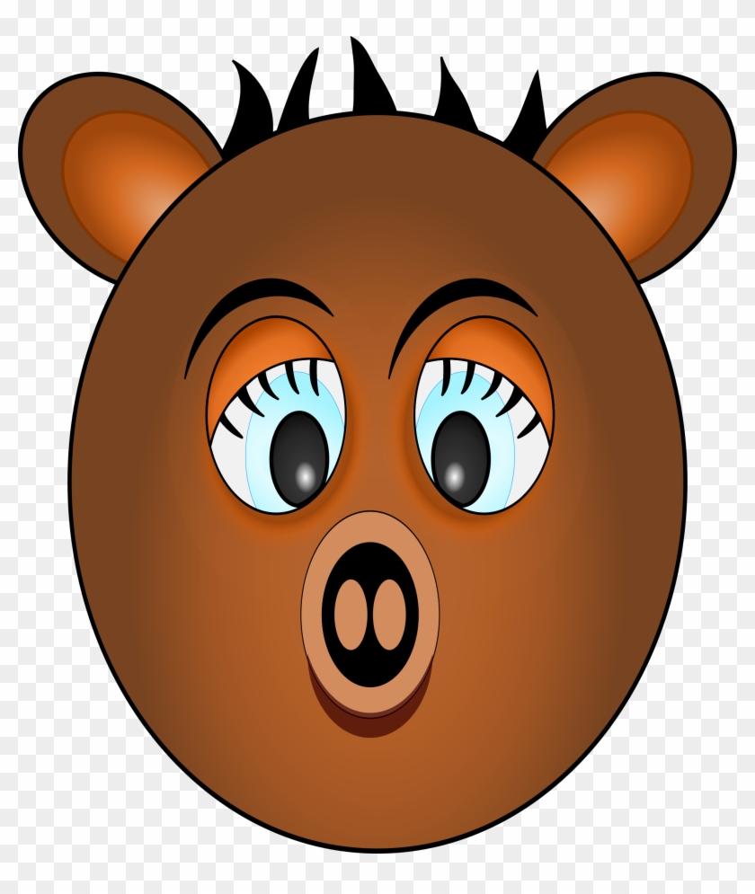 Eyes Bear, Pig, Animal, Comic, Face, Eyes - Animal Faces Cartoon Characters #201168